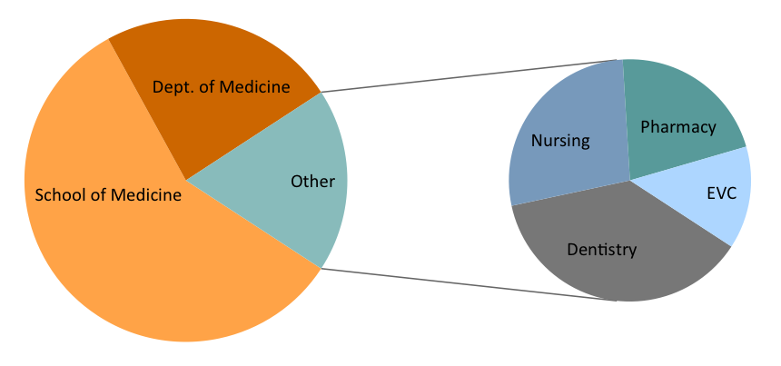 Department of Medicine Faculty Pie Chart